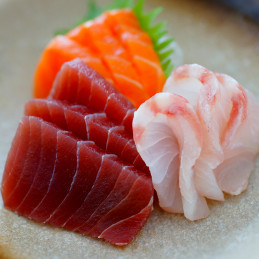 Sashimi de thon et saumon