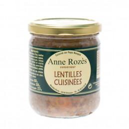 Lentilles cuisinées - Anne...