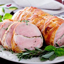 Rôti de porc lardé - 1kg