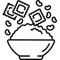 Pâtes, riz, légumes secs, graines