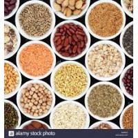 Légumineuses et céréales bio sans gluten
